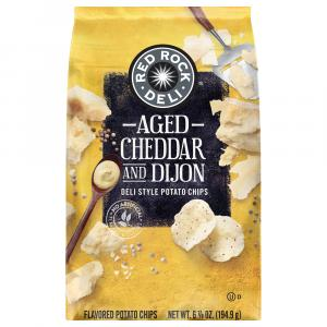 Red Rock Deli Aged Cheddar and Dijon Deli Style Potato Chips