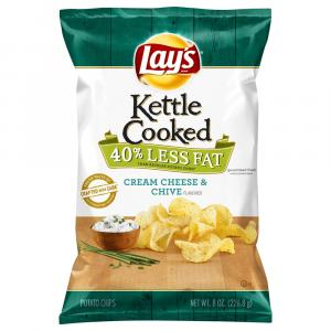 Lay's Kettle Cooked Cream Cheese & Chives Potato Chips