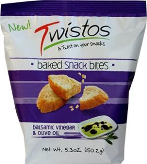 Twistos Baked Snack Bites Balsamic Vinegar & Olive Oil