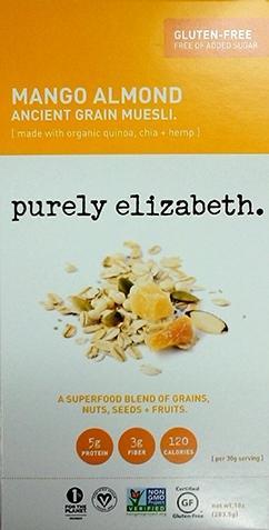Purely Elizabeth Mango Almond Grain Muesli Gluten Free