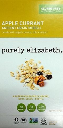 Purely Elizabeth Apple Currant Muesli Gluten Free