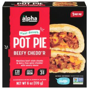 Alpha Foods 100% Plant-Based Beefy Cheddar Pot Pie