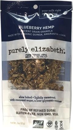 Purely Elizabeth Blueberry Hemp Granola Mini Bag