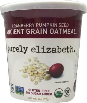 Purely Elizabeth Cranberry Pumpkin Seed Grain Oatmeal Cup