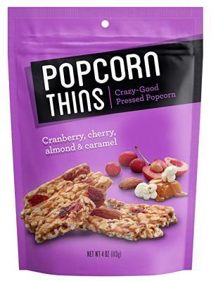 Popcorn Thins Cranberry, Cherry, Almond & Caramel