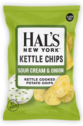 Hal's Kettle Chips Sour Cream & Onion