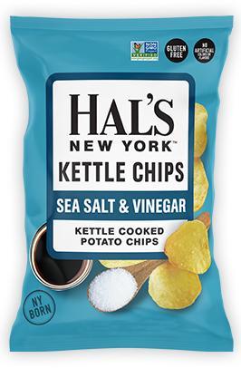 Hal's Kettle Chips Sea Salt & Vinegar