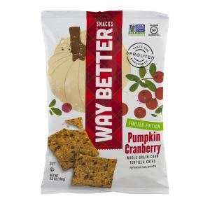 Waybet Tortilla Chip, Sweet Pumpkin Cranberry