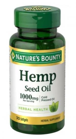 Nature's Bounty Hemp Oil 1000mg Softgels