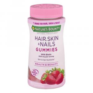 Nature's Bounty Optimal Solutions Hair, Skin & Nails Gummies