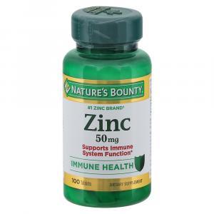 Nature's Bounty Chelated Zinc 50 mg Caps