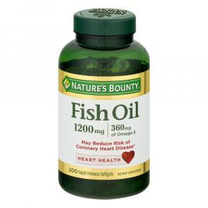 Nature's Bounty Fish Oil 1200 mg Softgels