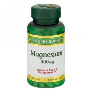 Nature's Bounty High Potency Magnesium 500 mg Tablets