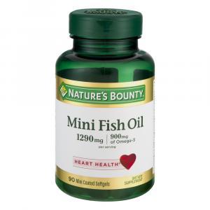 Nature's Bounty Mini Fish Oil 1290mg Odorless SoftGels