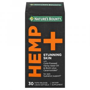 Nature's Bounty Hemp + Stunning Skin Softgels