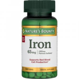 Nature's Bounty Iron 65mg Tablets