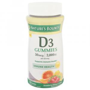 Nature's Bounty D-3 Gummies 2000 Iu