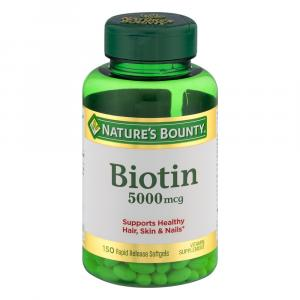 Nature's Bounty Super Potency Biotin 5000meg Value Size