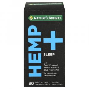 Nature's Bounty Hemp + Sleep Softgels