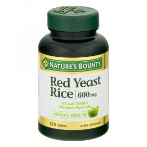 Nature's Bounty Red Yeast Rice Caps 600mg Value Size