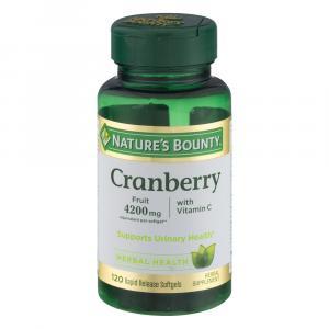 Nature's Bounty Cranberry Plus Vitamin C Softgels