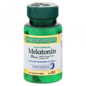 Nature's Bounty Melatonin Quick Dissolve 10mg Tablets
