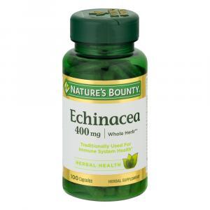 Nature's Bounty Echinacea 400mg Capsules