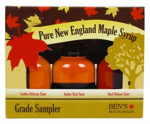 Ben's Sugar Shack Pure Maple Syrup New England Sampler