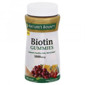 Nature's Bounty Biotin Gummies 1000 Mcg
