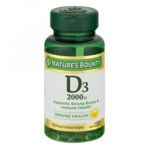 Nature's Bounty Vitamin D3 2000 IU Softgels