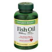 Nature's Bounty Cholesterol Free Fish Oil 1000 mg Softgels