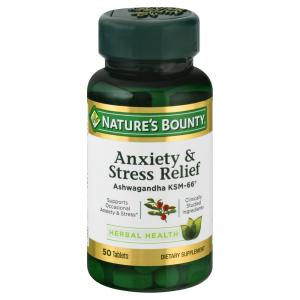 Nature's Bounty Anxiety & Stress Relief Tablets