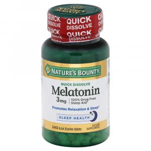 Nature's Bounty 3mg Melatonin Dietary Supplement Tablets