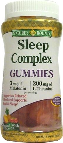 Nature's Bounty Sleep Complex Gummies Tropical Fruit
