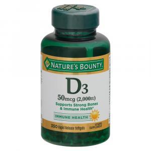 Nature's Bounty Vitamin D3-2000IU Softgels