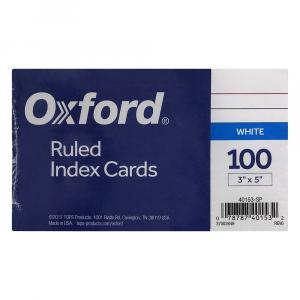 "Ruled 3"" x 5"" Index Cards"