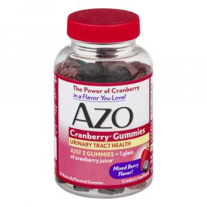Azo Cranberry Gummies Urinary Tract Health Mix Berry Flavor
