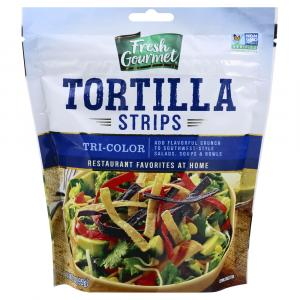 Fresh Gourmet Tri-color Tortilla Strips Topping