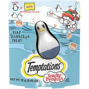 Temptations Holiday Snacky Penguin Cat Treats