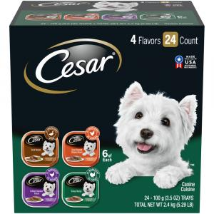 Cesar Canine Cuisine Poultry Flavors Variety Pack