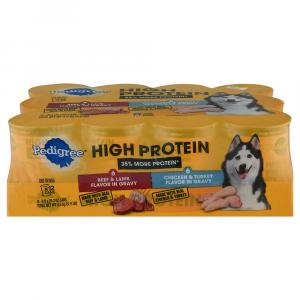 Pedigree High Protein Wet Dog Food with Red Meat & Poultry