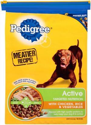 Pedigree Active Chicken Rice & Vegetables Dog Food