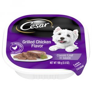 Cesar Grilled Chicken in Sauce Can Dog Food