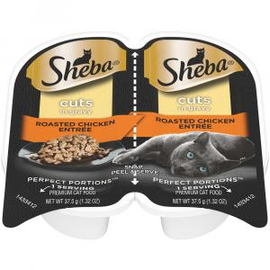 Sheba Perfect Portions Roasted Chicken Cuts In Gravy Entree
