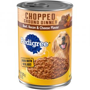 Pedigree Chopped Ground Dinner Beef, Bacon & Cheese Flavor