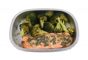 Grab n Go Atlantic Salmon & Broccoli Meal with Garlic Butter