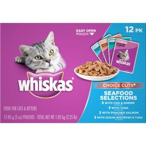 Whiskas Homestyle Seafood Variety Pack Cat Food