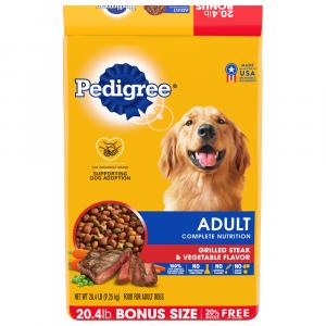 Pedigree Adult Nutrition Steak And Vegetable Dry Dog Food