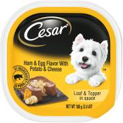 Cesar Savory Delights Ham and Egg Flavor with Bacon & Potato