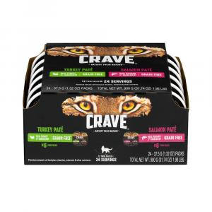 Crave Cat Turkey Pate' & Salmon Pate'